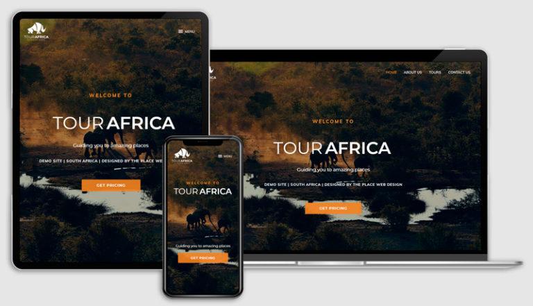 The Place Web Design Table View Developer_Portfolio_Tour-Africa_Tour-Site_Website